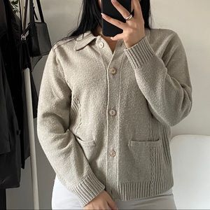 VINTAGE Button Knit Cardigan Sweater -Size S